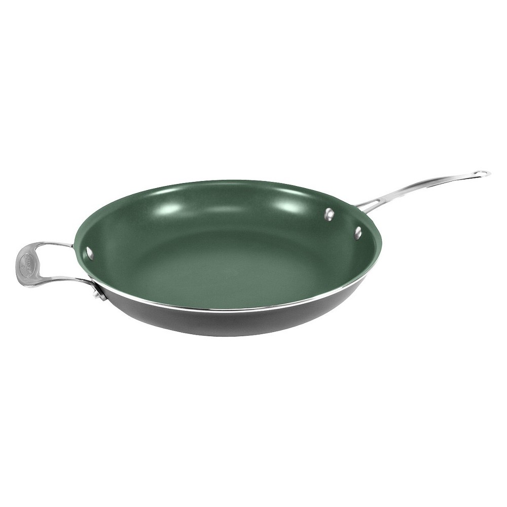 "As Seen On TV Orgreenic 12"" Ceramic Interior Non-Stick Fry Pan"