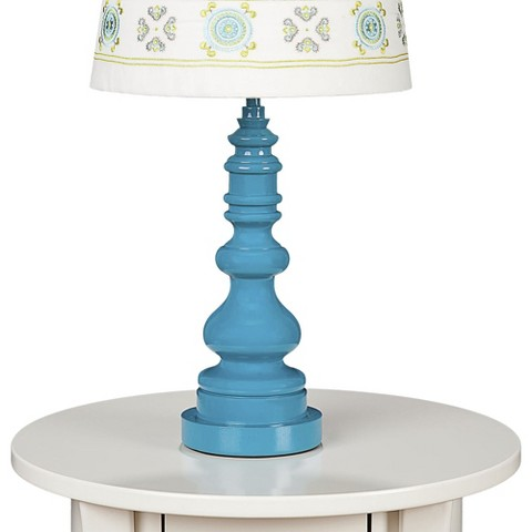 Lolli Living Lamp Base - Teal Spindle