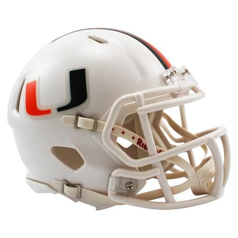Miami Hurricanes Riddell FL Speed Mini Helmet - White