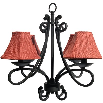 Madaga Outdoor Chandelier - Black
