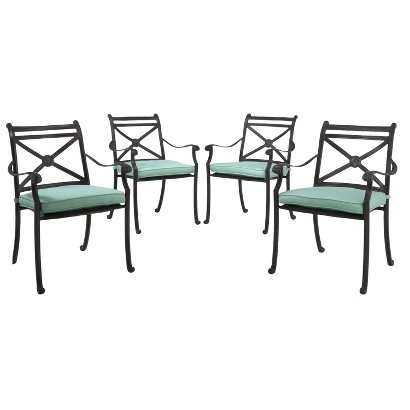 Smith & Hawken® Edinborough 4-Piece Metal Patio Dining Chair Set