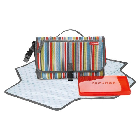 Skip Hop Pronto Baby Changing Station & Diaper Clutch Metro Stripe