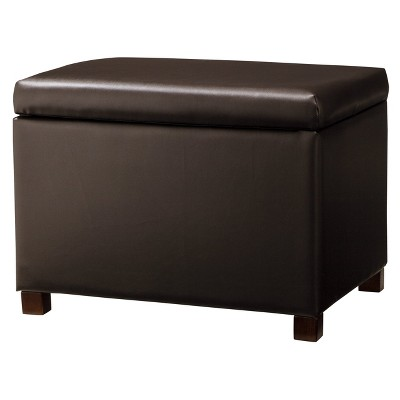 Medium Storage Ottoman Brown - Kinfine