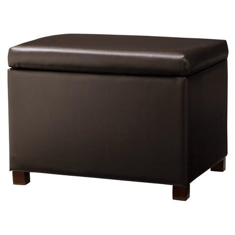 Medium Storage Ottoman - Brown