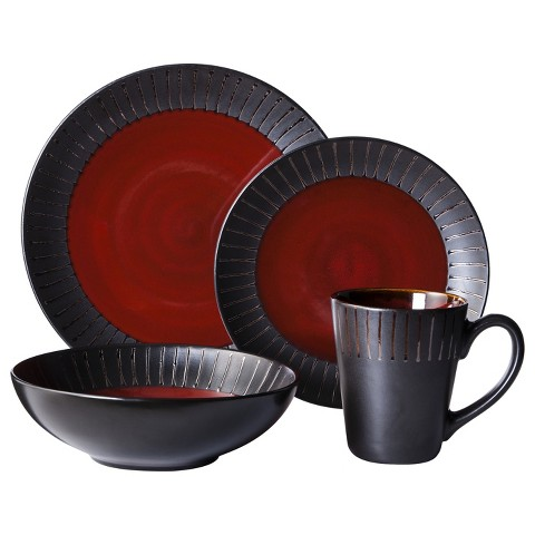Threshold™ 16 Piece Lawrence Dinnerware Set - Red