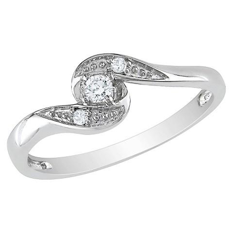 0.07 CT.T.W. Diamond Ring in 10K White Gold