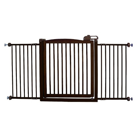 "Richell One-Touch Pet Gate 150 - Mahogany (60"")"