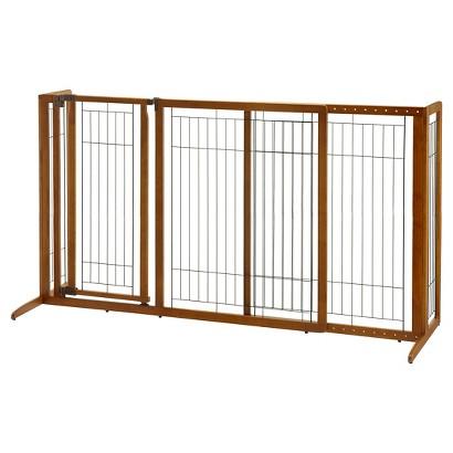 Richell Freestanding Deluxe Pet Gate with Door - Medium