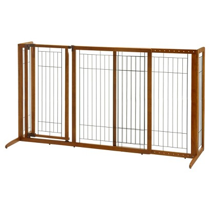 Richell Freestanding Deluxe Pet Gate with Door - Large