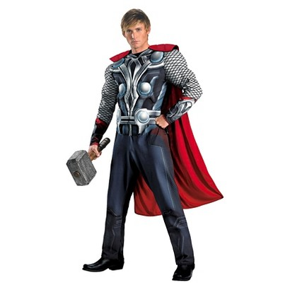 Men's The Avengers Thor Muscle Plus Costume - XXL