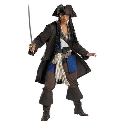 Men's Pirates of the Caribbean Captain Jack Sparrow Prestige Plus Costume - XXL