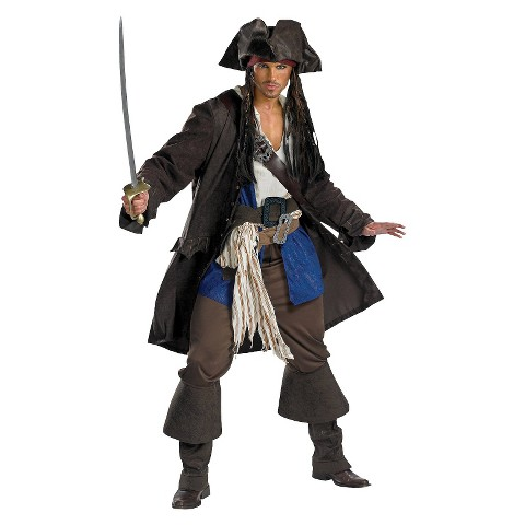 Men's Pirates of the Caribbean Captain Jack Sparrow Prestige Plus Costume - XXL