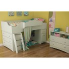 South Shore Imagine Kid's White Bedroom F...