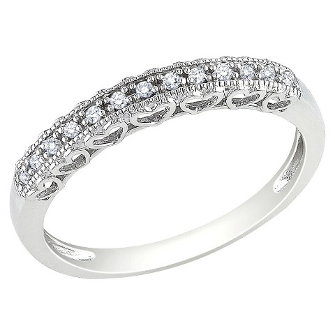 .08 Ct Diamond Ring 10k White Gold - White/Silver