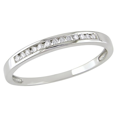 1/8 Ct Diamond Ring 10k White Gold - White/Silver