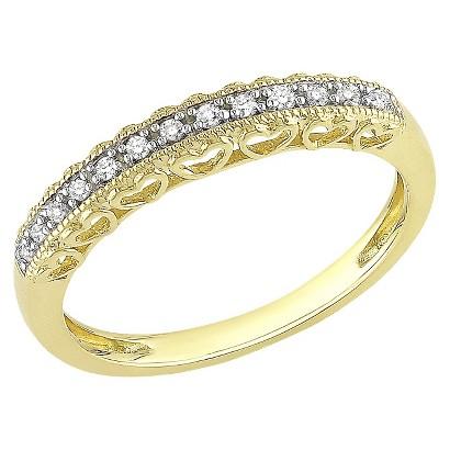 .08 Ct Diamond Ring 10k Yellow Gold - Yellow/White