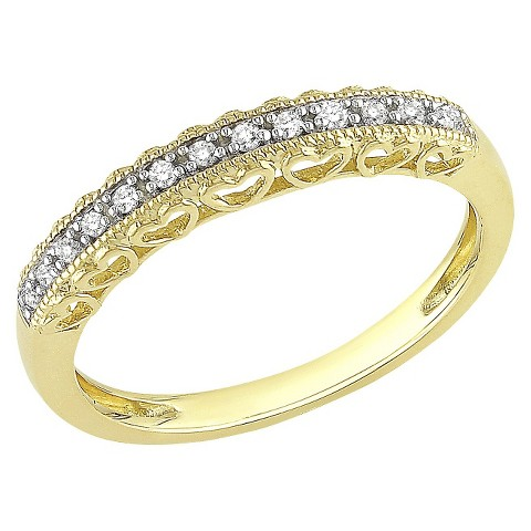.08 Ct Diamond Ring 10k Yellow Gold - Yellow/White