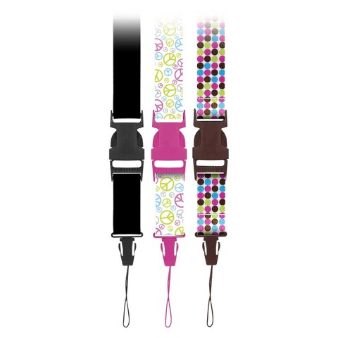 Targus Fashion Lanyard for Cameras 3 Pack - Multicolored (MB-CS399)