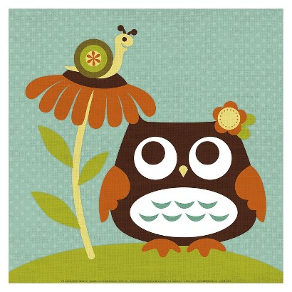 Art.com - Owl Looking at Snail