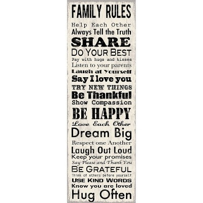 Art.com - Family Rules Panel Art Print