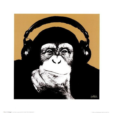 Art.com - Headphone Monkey