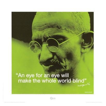 Art.com - Gandhi: Eye for an Eye