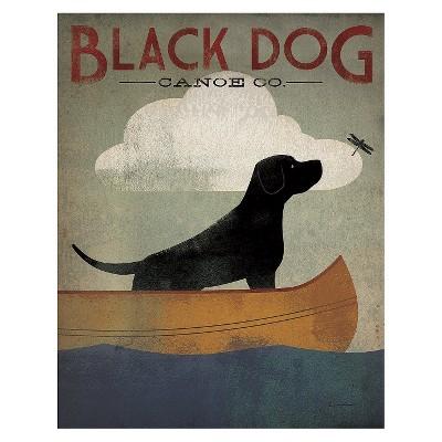 Art.com - Black Dog Canoe Art Print