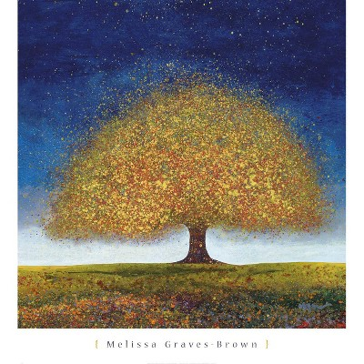 Art.com - Dreaming Tree Blue Art Print