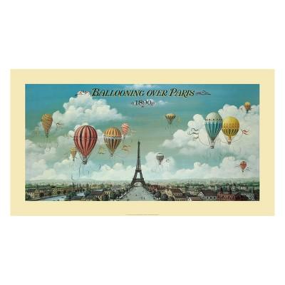 Art.com - Ballooning Over Paris Art Print