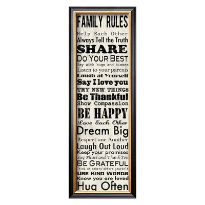 Art.com - Family Rules Panel Framed Print