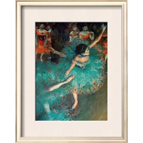 Art.com - Swaying Dancer (Dancer In Green) Mounted Print