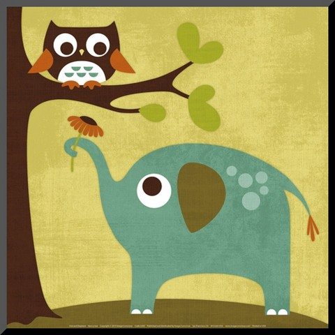 Art.com - Owl and Elephant