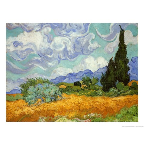 Art.com - Wheatfield and Cypress