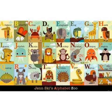 Art.com - Alphabet Zoo