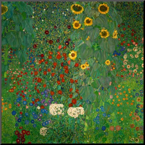 Art.com - Garden with Sunflowers