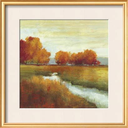 Art.com - Orange Treescape I Framed Print