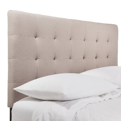 Upholstered  Headboard - Beige (Queen)
