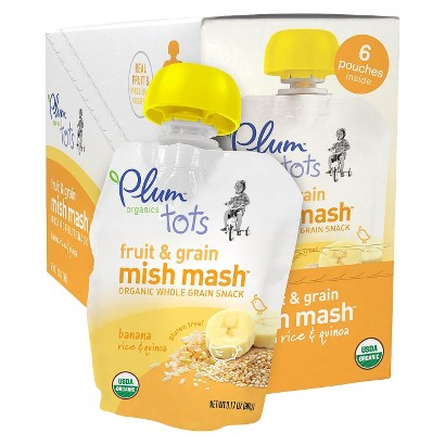 Plum Organics Tots Fruit & Grain Mish Mash Banana Rice & Quinoa 3.17 oz pouch - 6 pack
