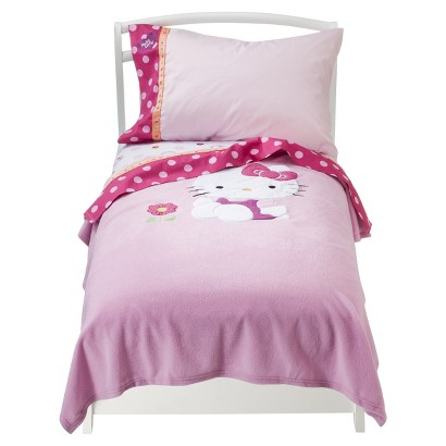 Hello Kitty Garden 4pc Toddler Bedding Set