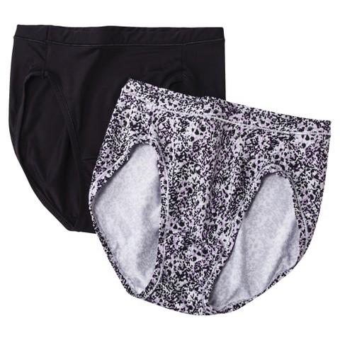 Hanes® Premium Women's Invisible Smooth Microfiber Hi-Cut NB43AS 2-Pack (Colors May Vary)
