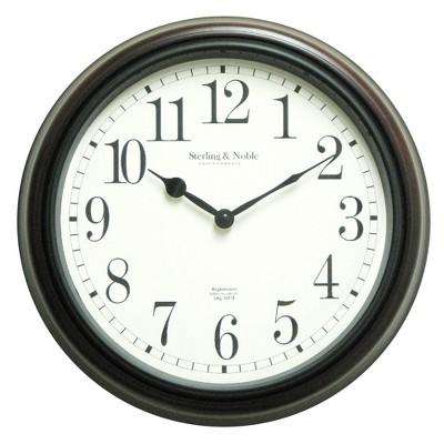Threshold™ Wall Clock - Classic Wood