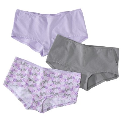 Hanes® Women's Premium 3-Pack No Panty Lines String Boyshort EV49AS - Assorted Colors/Patterns