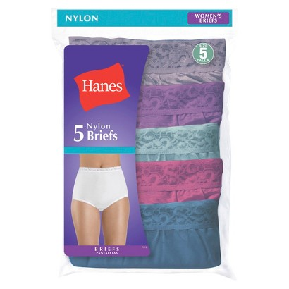 Hanes® Women's Nylon 5-Pack Brief P570CA - Assorted Colors/Patterns