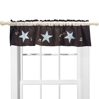 Lambs and Ivy Rock N' Roll Window Valance