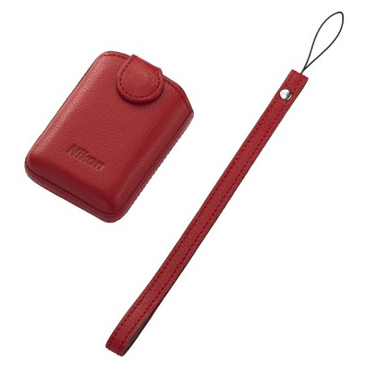 Nikon COOLPIX S01 Camera Case with Strap - Red (25863)
