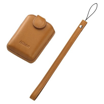 Nikon COOLPIX S01 Camera Case with Strap - Brown (25864)