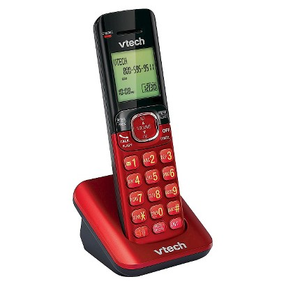 Vtech DECT 6.0 Accessory Handset (CS6509-16) with Caller ID - Red