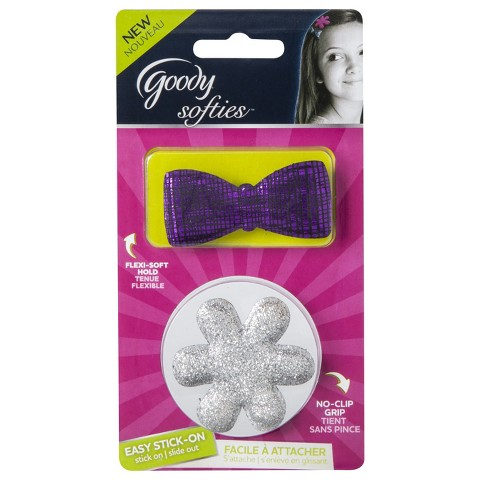 Goody Softies Easy Stick-On/Slide Out Hair Accessories - Assorted