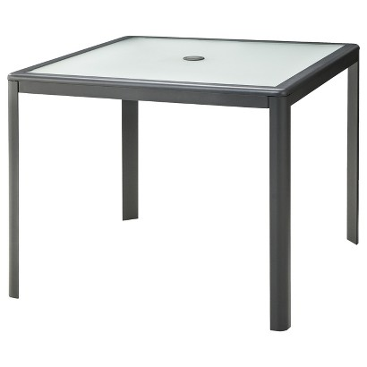 Room essentials upton metal patio dining table target for Dining room essentials