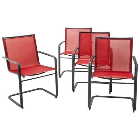 Upton 4 Piece Metal Patio Dining Chair Set Thr Tar
